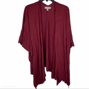 Nordstrom Wine Colored Cozy Shawl One Size